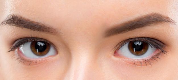 Woman eyes vision 20/20