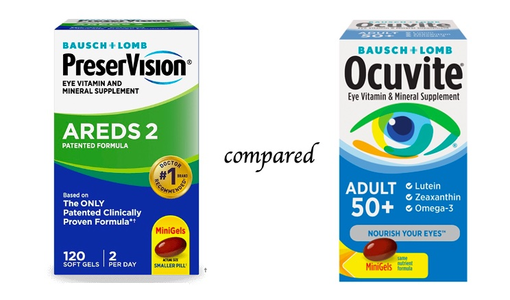 PreserVision compared to Ocuvite from Bausch + Lomb