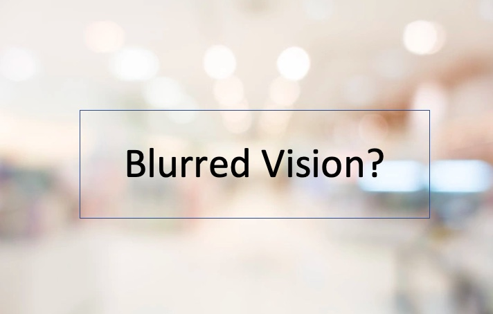 Blurred vision vector